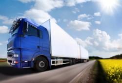 משאית הובלה על כביש