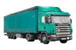 משאית חברת הובלה בצבע ירוק