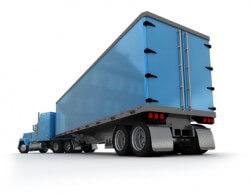 משאית הובלות כחולה