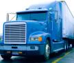 רכב סמיטריילר להובלות בצבע כחול