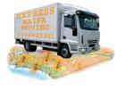 משאית של חברת הובלות אקספרס חיפה