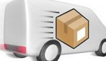 delivery van with package symbol