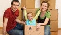 משפחה עוברת דירה
