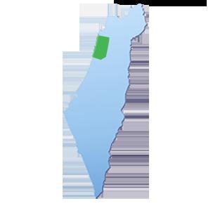 מפת הובלות אזור השרון