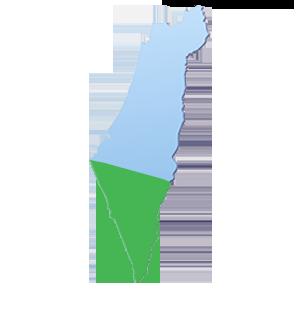 מפת הובלות אזור דרום